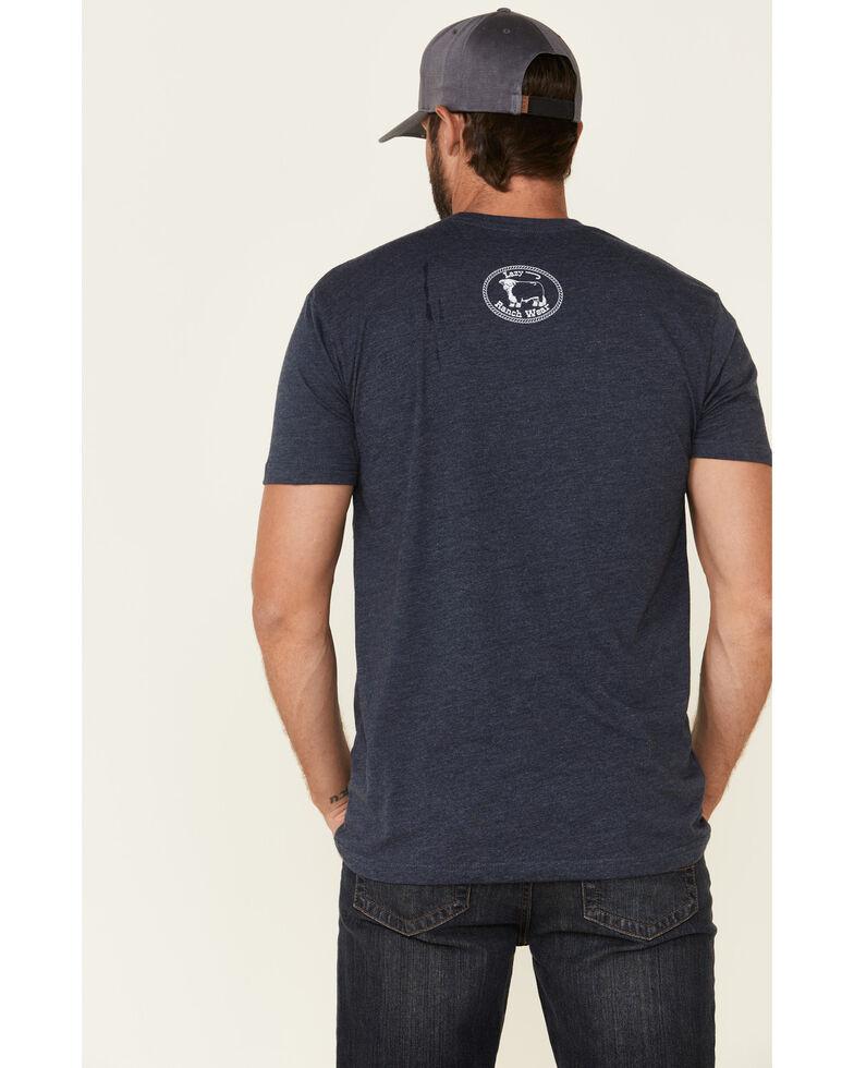 Lazy J Ranch Wear Men's Blue Elevation Bull Graphic T-Shirt, Blue, hi-res