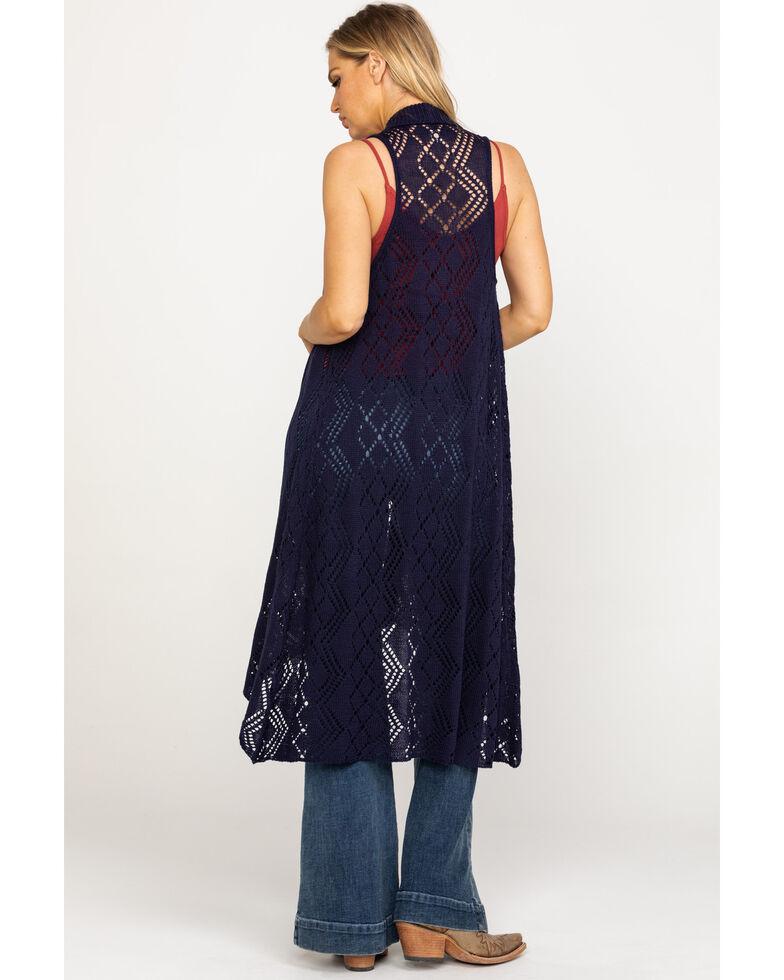 Ariat Women's Maxi Sweater Vest, Navy, hi-res