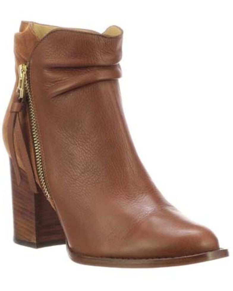 Lucchese Women's Redwood Britta Fashion Booties - Round Toe, Bark, hi-res