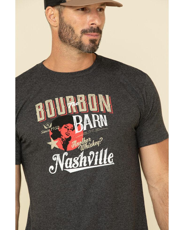 Moonshine Spirit Men's Bourbon Barn Graphic Short Sleeve T-Shirt , Black, hi-res