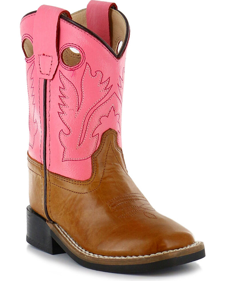 Shyanne Youth Girls' Western Boots - Square Toe , Tan, hi-res