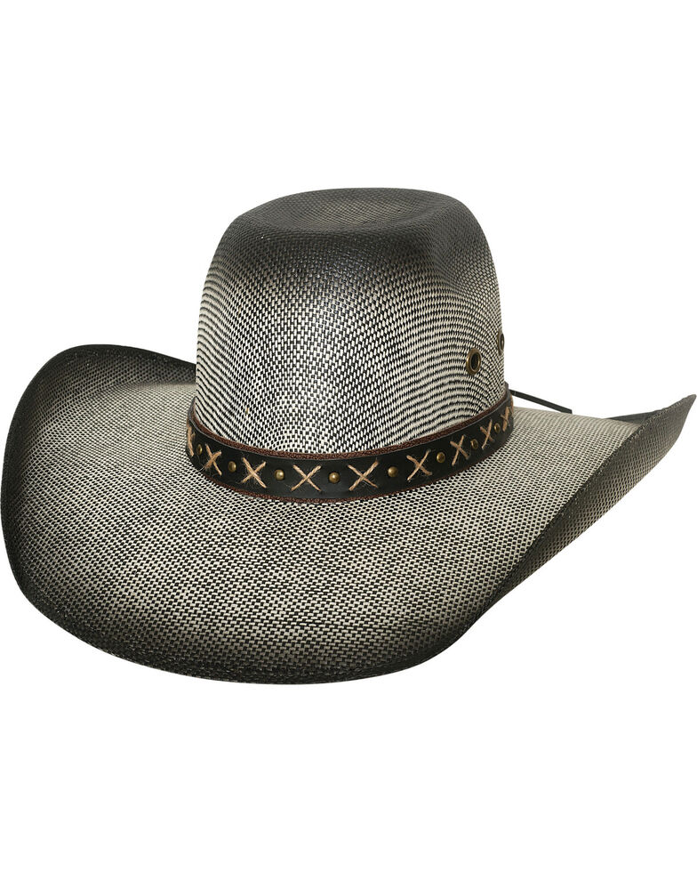 Bullhide Men's Ranny Black Bangora Straw Cowboy Hat, , hi-res