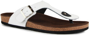 Lamo Women's Redwood Thong Sandals , White, hi-res