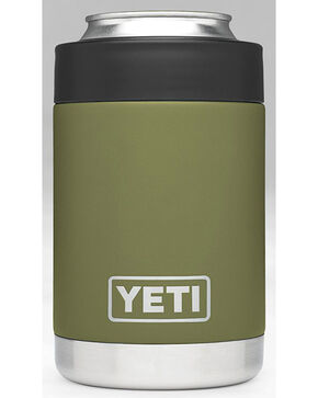 Yeti Olive Green Rambler Colster , Olive, hi-res