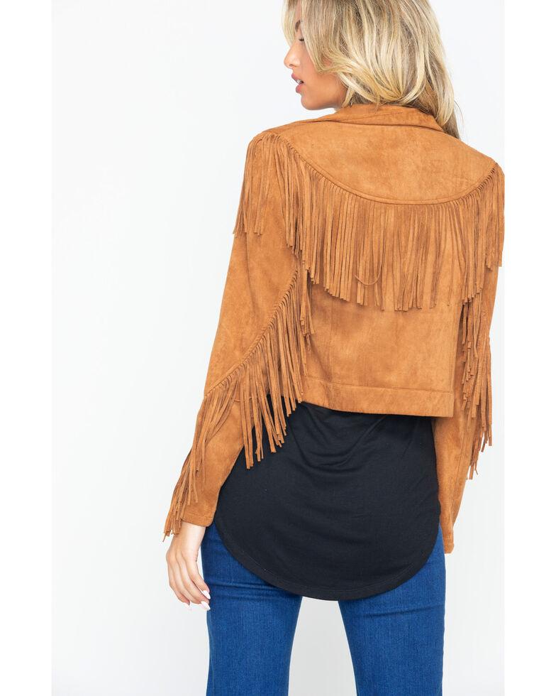 Flying Tomato Women's Zip-Up Fringe Jacket , , hi-res