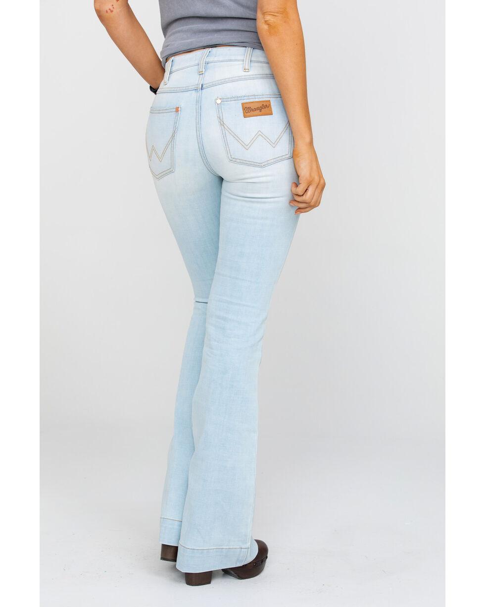 Wrangler Women's  Light Exaggerated Boot Jeans , Light Blue, hi-res