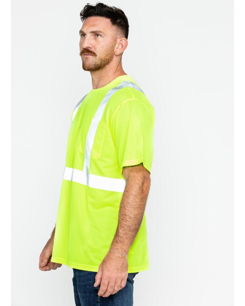 Hawx Men's Reflective Short Sleeve Work T-Shirt , Yellow, hi-res