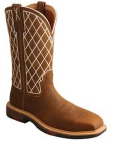 Twisted X Women's Oiled Saddle Western Work Boots - Nano Composite Toe, Brown, hi-res