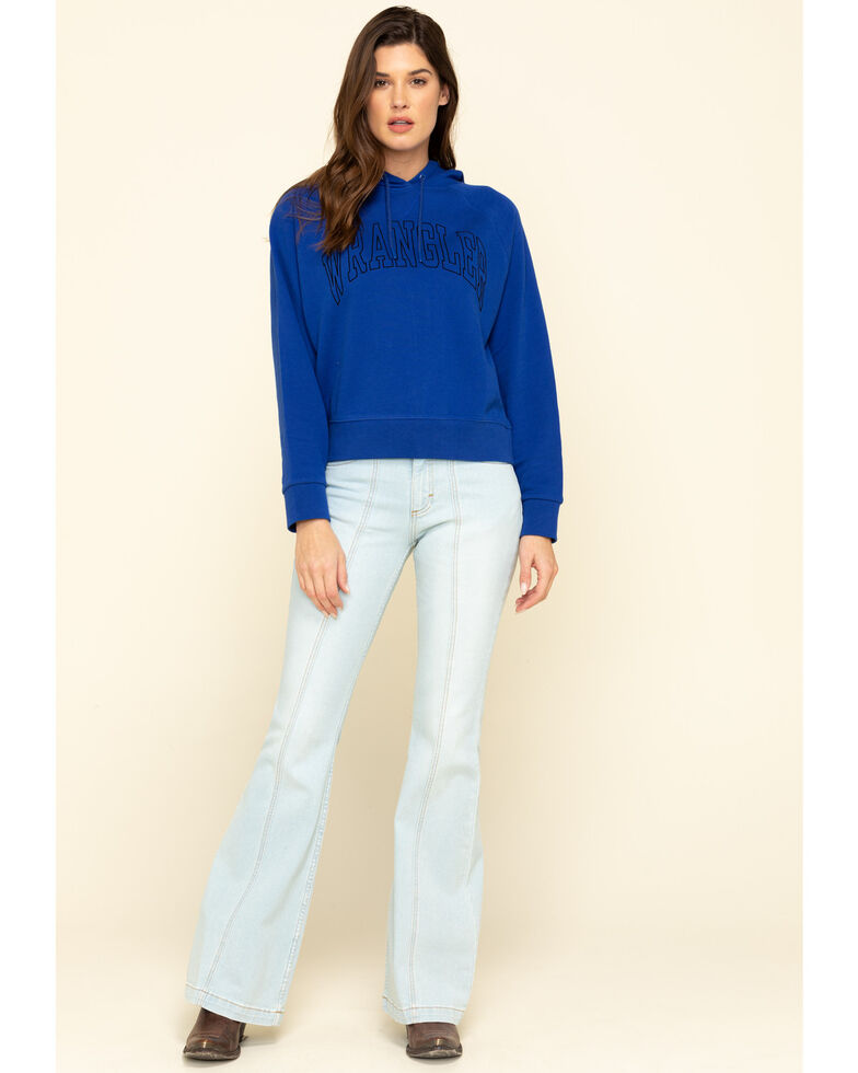 Wrangler Modern Women's Blue Retro Hoodie, Blue, hi-res