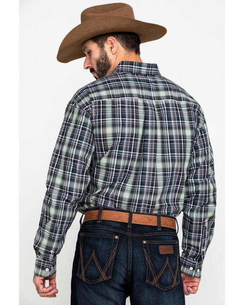 Cinch Men's Multi Med Plain Weave Plaid Long Sleeve Western Shirt , Multi, hi-res