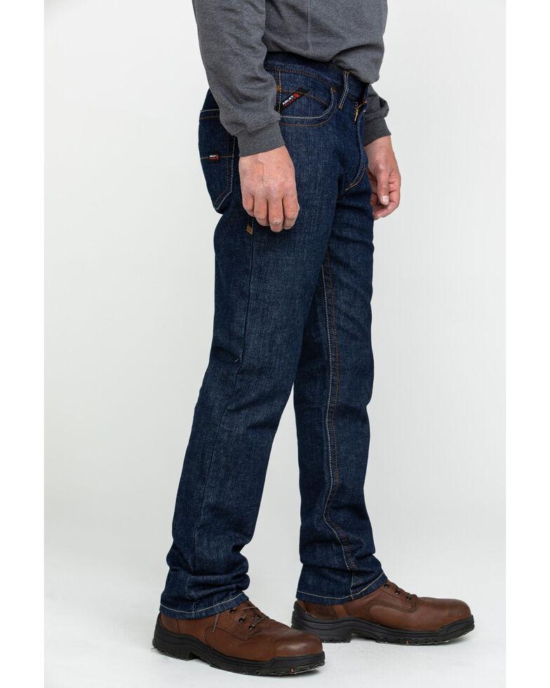 Ariat Men's FR Low Rise Durastretch Basic Straight Work Jeans , Blue, hi-res