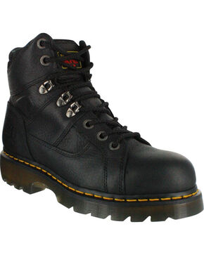 Dr. Marten's Men's Ironbridge Boots - Steel Toe, Black, hi-res