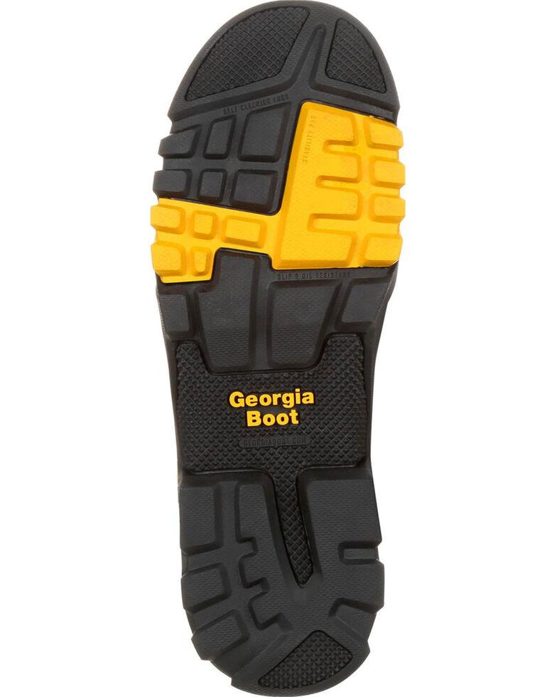 Georgia Men's Brown Amplitude Waterproof Work Boots - Round Toe , Brown, hi-res