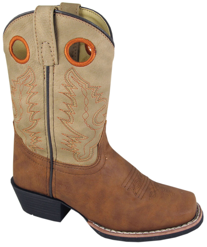 Smoky Mountain Boys' Memphis Western Boots - Square Toe, Tan, hi-res