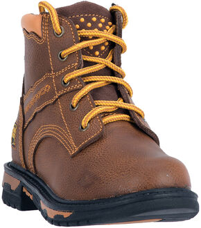 Dan Post Boys' Zyon Brown Leather Boot - Round Toe, Brown, hi-res