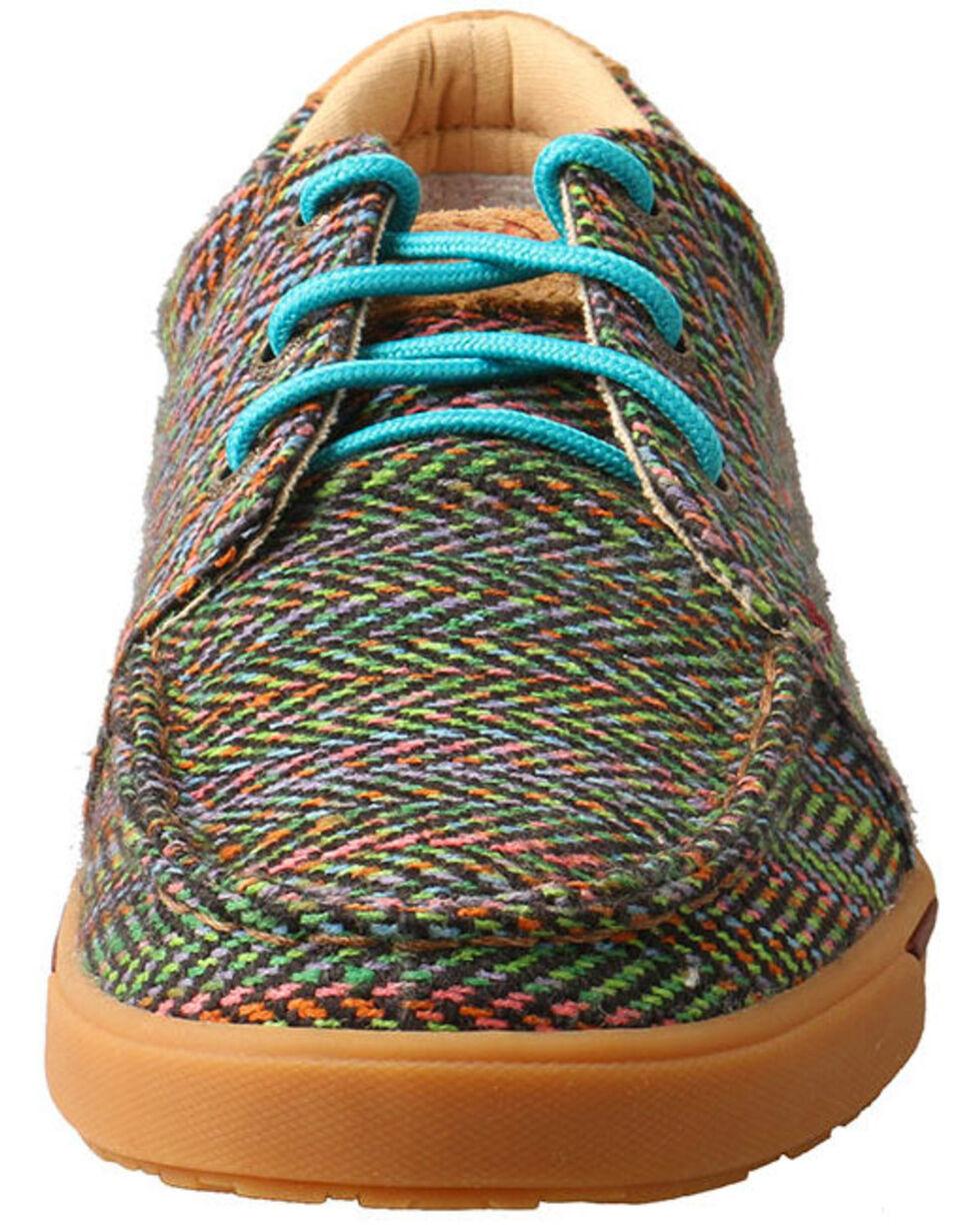 Twisted X Women's Multicolored Hooey Loper Shoes - Moc Toe, Multi, hi-res