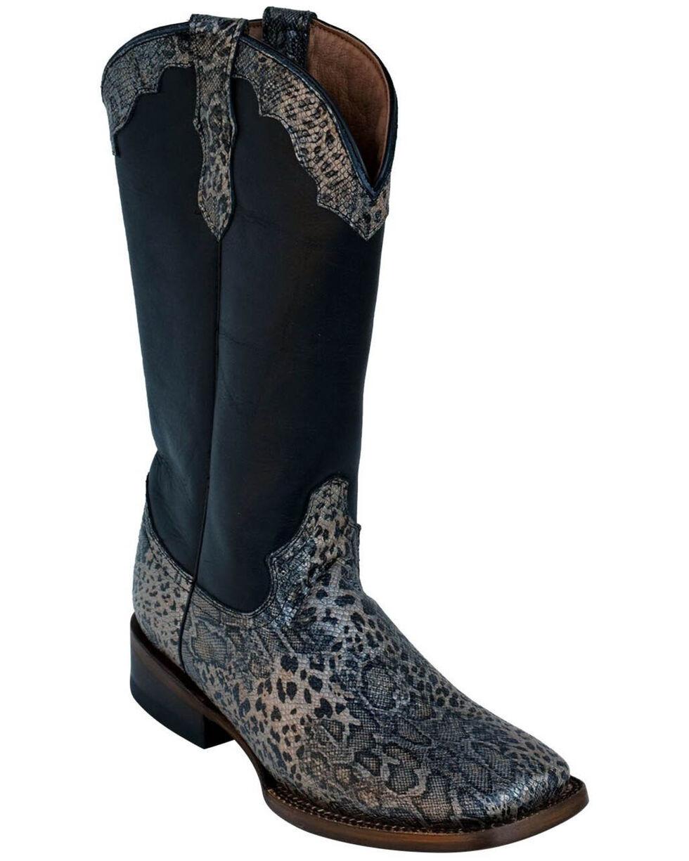 Ferrini Women's Silver Cheetah Western Boots - Square Toe, , hi-res