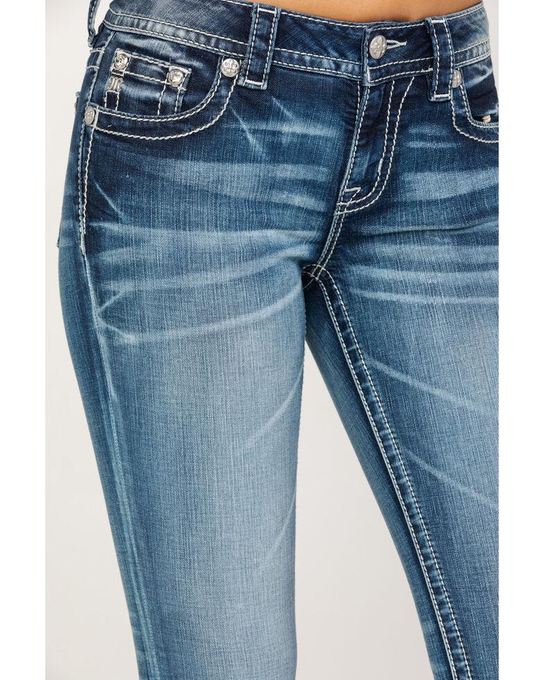 Miss Me Women's Fleur Dark Boot Jeans , Blue, hi-res