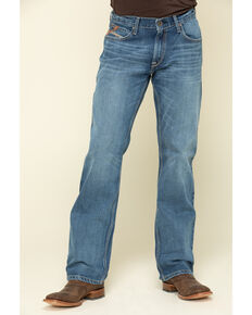 Ariat Men's M4 Ledge Low Stretch Relaxed Boot Jeans , Blue, hi-res
