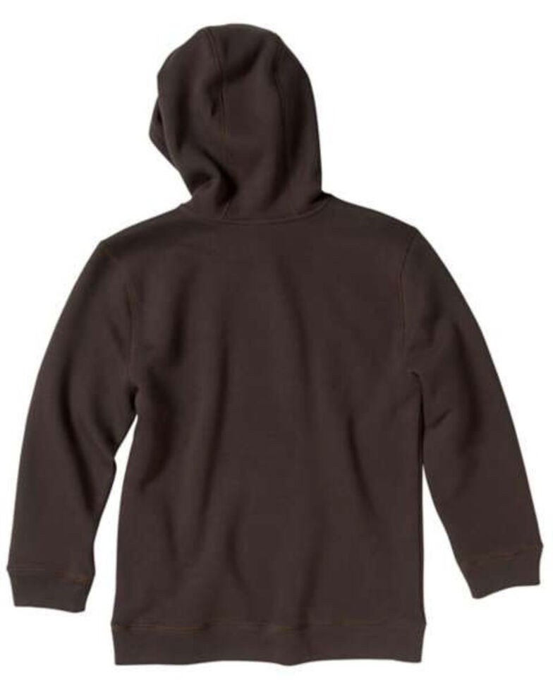 Carhartt Boys' Brown Big C Fleece Logo Hooded Sweatshirt , Brown, hi-res