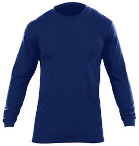 5.11 Tactical Men's Utili-T Long Sleeve Crew Shirts 2 Pack, Navy, hi-res