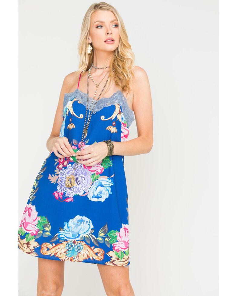 Aratta Women's Ines Mini Dress , Blue, hi-res