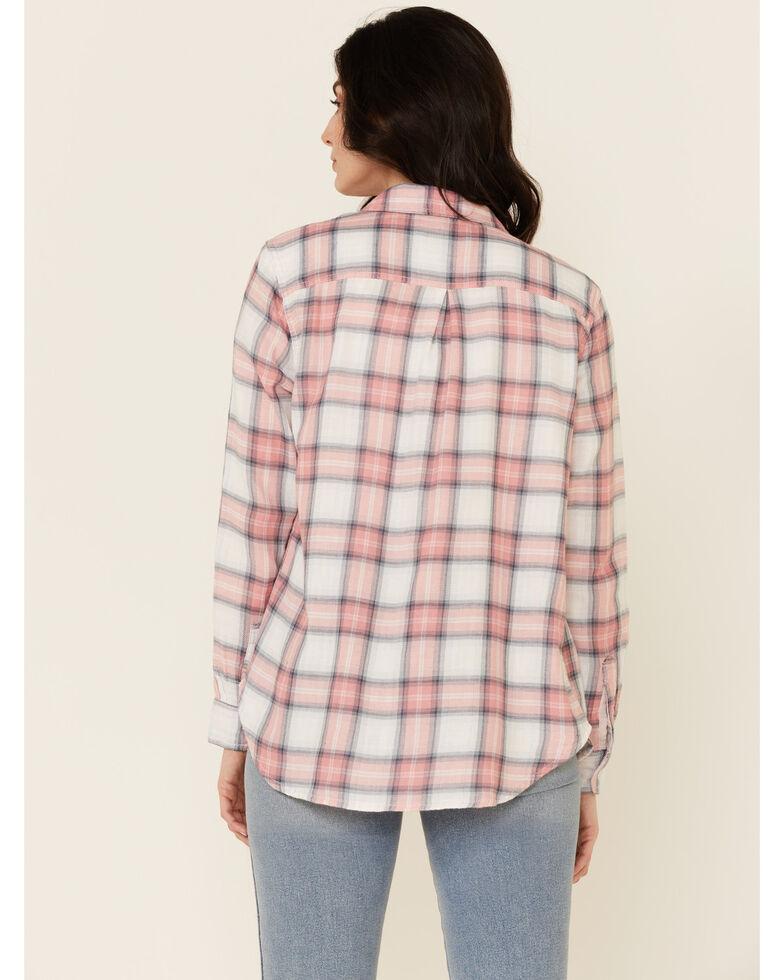 Flag & Anthem Women's Chloe Multi Plaid Long Sleeve Button-Down Western Core Shirt , Pink, hi-res