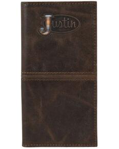 Justin Men's Brown Serape Logo Rodeo Wallet , Brown, hi-res