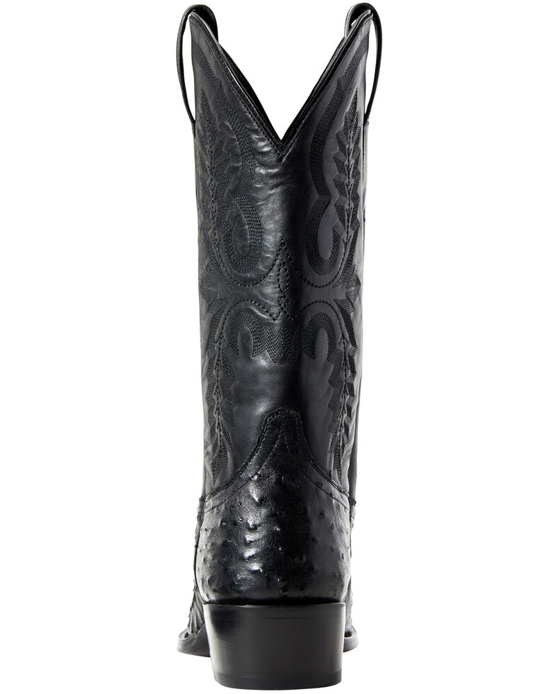 Ariat Men's Black Quill Ostrich Circuit Western Boots - Round Toe, Black, hi-res
