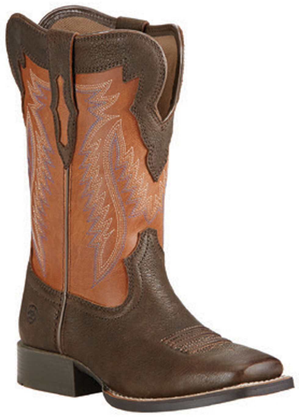 Ariat Boys' Buscadero Cowboy Boots - Square Toe, Brown, hi-res