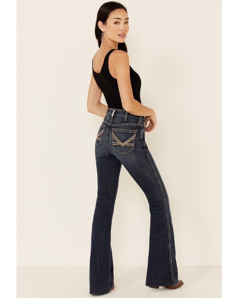 Ariat Women's Laila Flare Jeans, Blue, hi-res