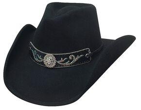 Bullhide Hangin' Out Black Wool Cowgirl Hat, Black, hi-res