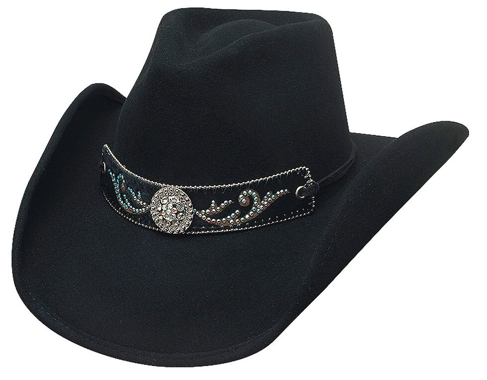 Bullhide Hangin' Out Black Wool Cowgirl Hat, Black, hi-res