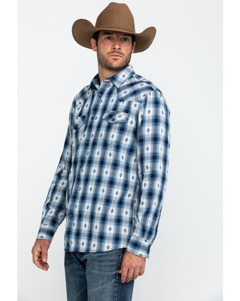 Cody James Men's Blue Plaid Long Sleeve Western Flannel Shirt - Tall , Blue, hi-res