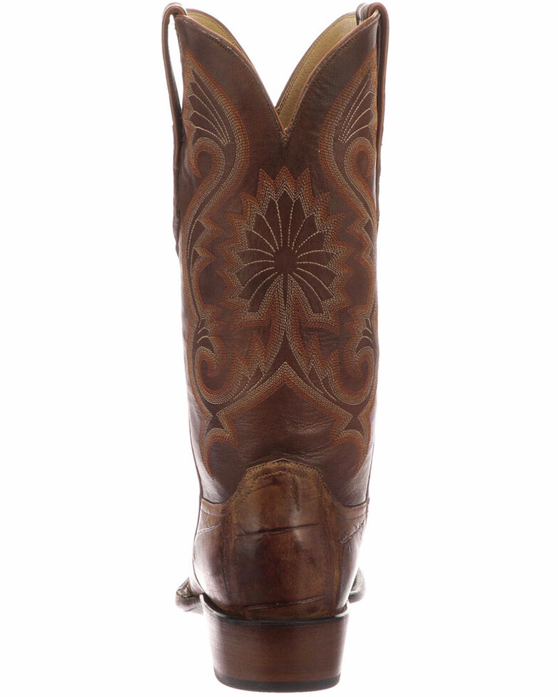 4ff0ad902ba Lucchese Men's Rio Brown/Tan Giant Gator Western Boots - Snip Toe