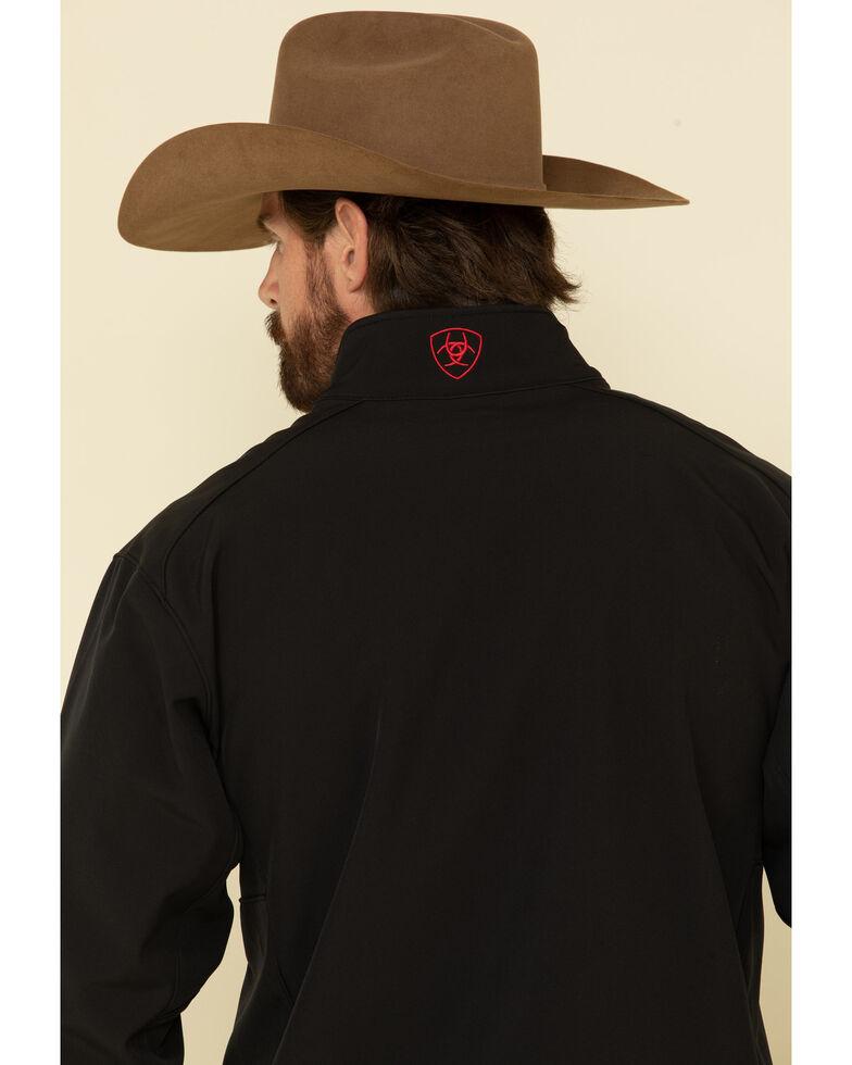 Ariat Men's Americana Flag Print Logo 2.0 Softshell Jacket - Tall , Black, hi-res
