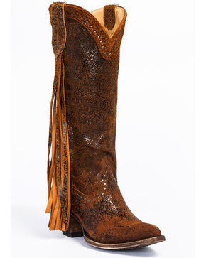 Idyllwind Women's Fray Western Boots - Round Toe, Brown, hi-res