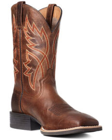 Ariat Men's Brown Sport Rafter Western Boots - Wide Square Toe, Brown, hi-res