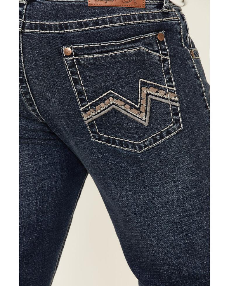 Rock 47 By Wrangler Men's Synthesizer Dark Stretch Slim Bootcut Jeans , Blue, hi-res