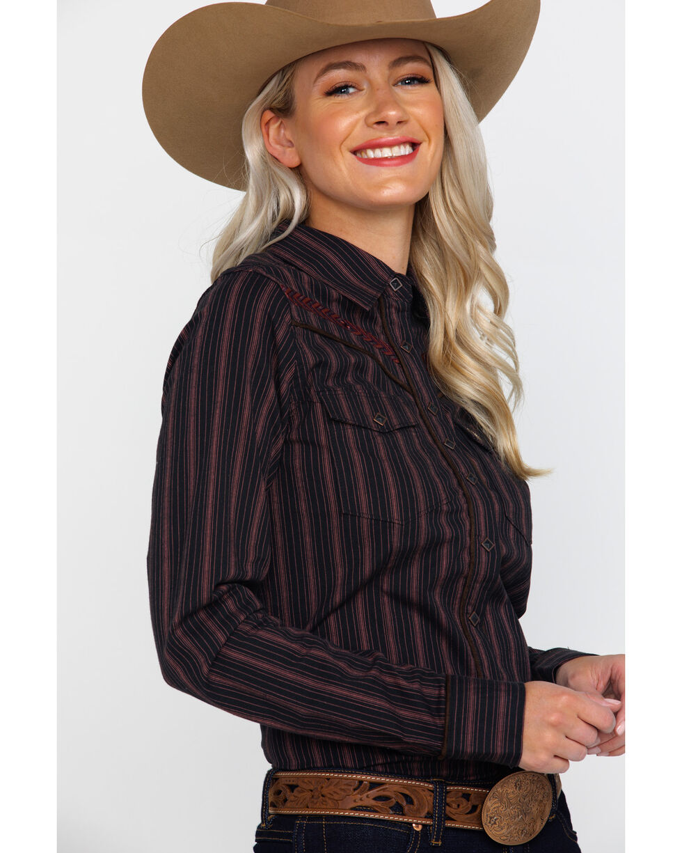Shyanne Life Women's Embroidered Riding Shirt , Black, hi-res