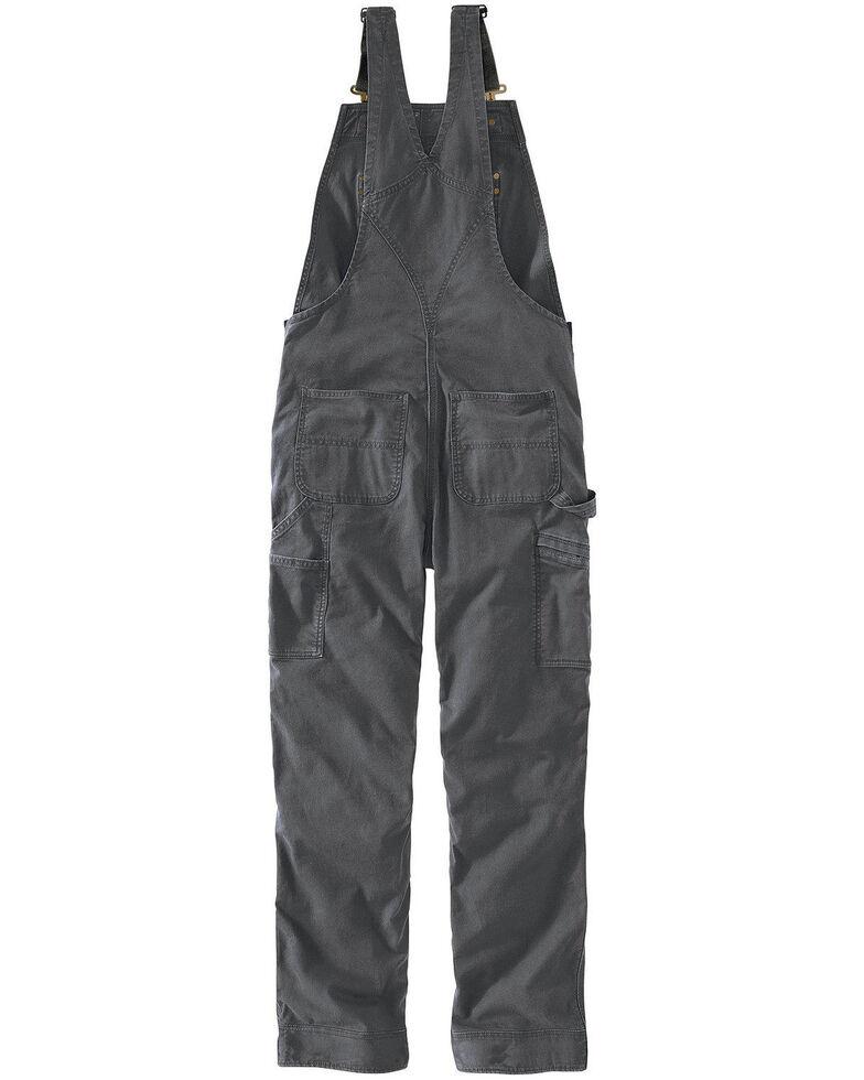 Carhartt Men's Gravel Rugged Flex Rigby Unlined Bib Overalls - Big, Grey, hi-res