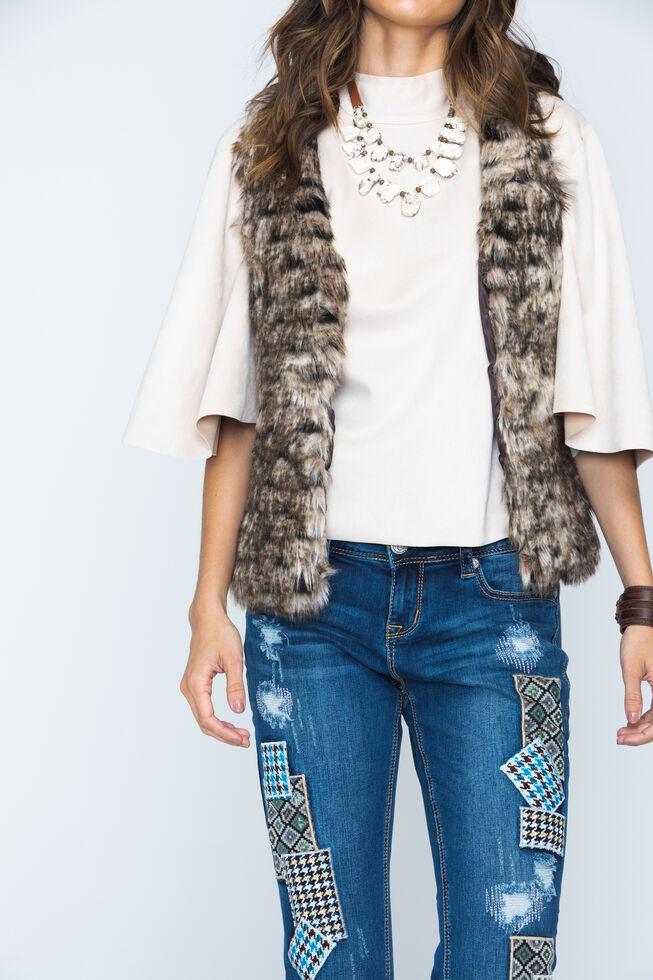 Scully Faux Fur Vest, Brown, hi-res