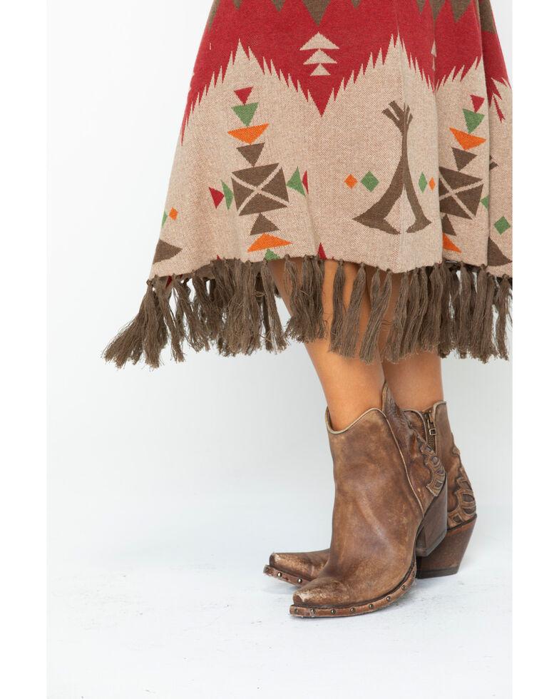 Tasha Polizzi Women's Cheyenne Tipi Skirt, Wine, hi-res