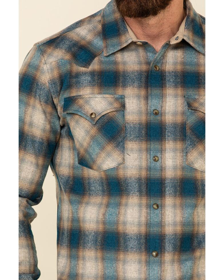 Pendleton Men's Tan Canyon Ombre Plaid Long Sleeve Western Shirt , Tan, hi-res