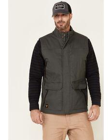 Hawx Men's Dark Grey Tejon Insulated Stretch Zip-Front Work Vest , Dark Grey, hi-res