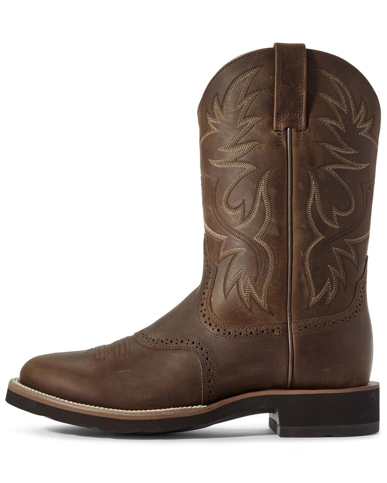 Ariat Men's Crepe Heritage Western Boots - Round Toe, Brown, hi-res