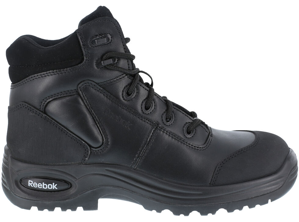"Reebok Men's Trainex 6"" Lace-Up Work Boots - Composite Toe, Black, hi-res"