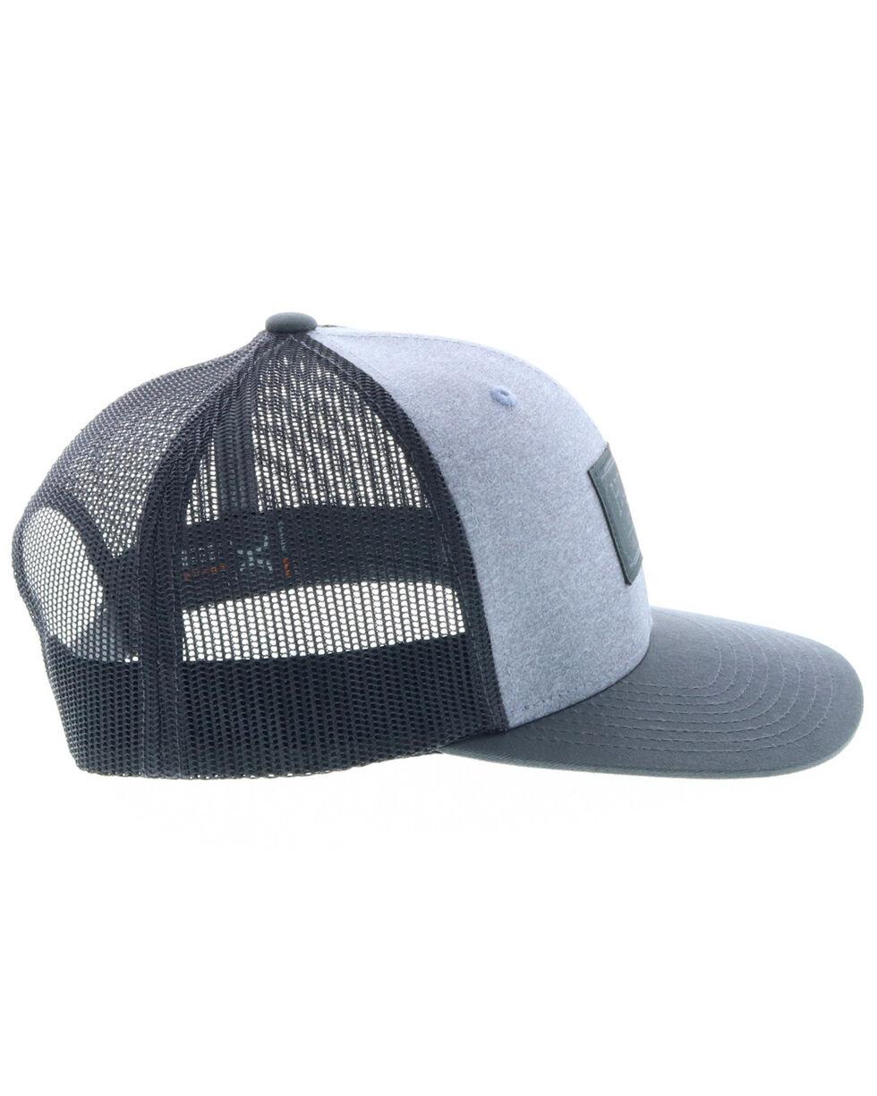 HOOey Men's Grey Doc Woven Square Patch Trucker Cap, Grey, hi-res
