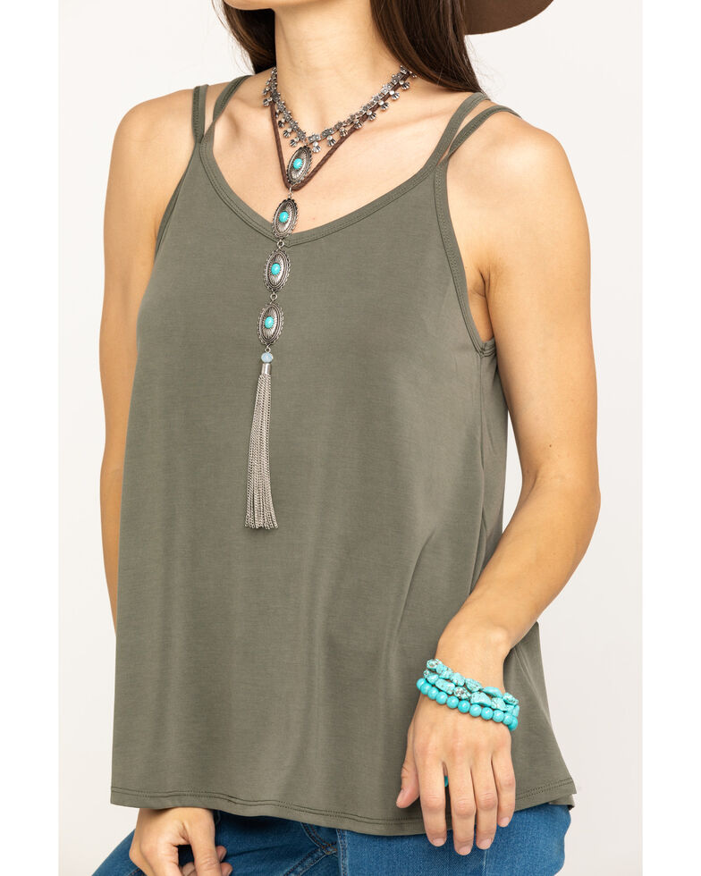 HYFVE Women's Solid Layering Tank Top, Olive, hi-res