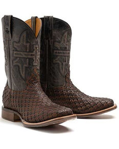Tin Haul Men's Son Of A Buck Western Boots - Wide Square Toe, Brown, hi-res